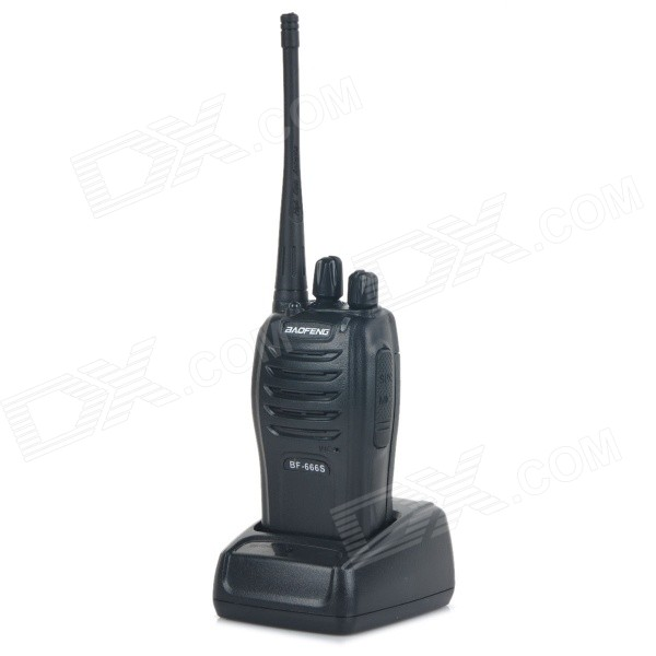 BAOFENG 666S 5W 16CH Handheld Two Way Radio Walkie Talkie for sale in Bitcoin, Litecoin, Ethereum, Bitcoin Cash with the best price and Free Shipping on Gipsybee.com