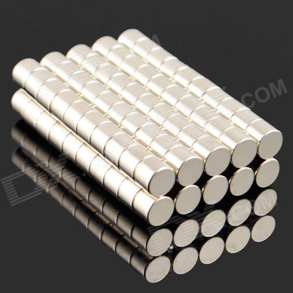 5 x 4mm NdFeB Neodymium Magnet Circular Cylinder DIY Puzzle Set - Silver (100 PCS)Magnets Gadgets<br>ModelNQuantity100MaterialNdFeBPacking List100 x Magnets<br>