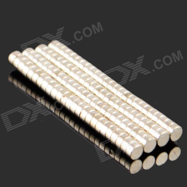 Buy 2*1mm NdFeB Neodymium Magnet Cylinder DIY Puzzle Set - Silver (100PCS) with Litecoins with Free Shipping on Gipsybee.com