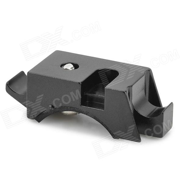 Buy Replacement Aluminum Alloy Stand w/ Rubber Rings for Bicycle Light - Black with Litecoins with Free Shipping on Gipsybee.com