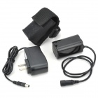 Bicycle 4 * 18650 Battery Pack + US Plugss Power Adapter Set - Black