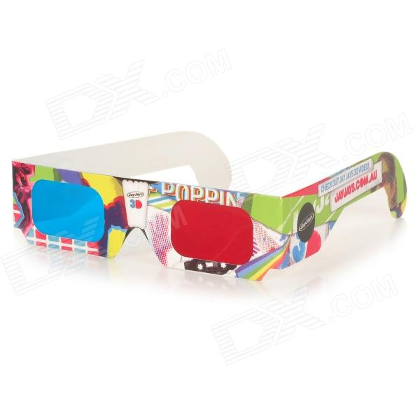 Disposable Anaglyphic Red + Cyan 3D Glasses (Assorted)