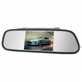 2-in-1-5-Digital-Color-TFT-Car-Rearview-Mirror-and-Security-Monitor-for-Camera-DVD-VCR-Black