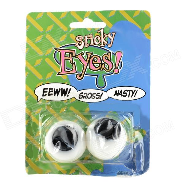 Sticky Eyes Pressure Relief Toy - White + Black (2 PCS)
