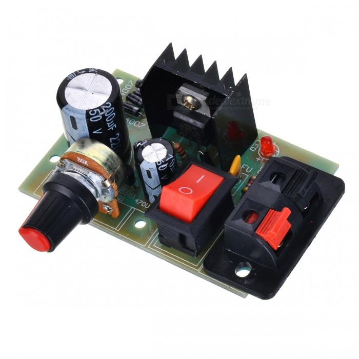 LM317 Adjustable Module - Black + Red + Multicolored (DC 5~35V)
