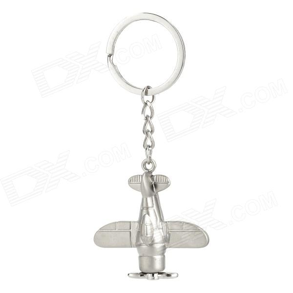 Aircraft Style Zinc Alloy Keychain - Silver