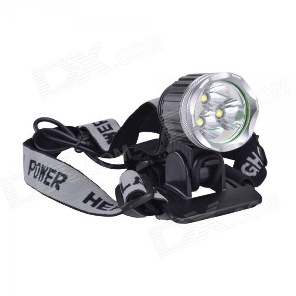 SingFire SF-526 1304lm Cold White 3-Mode Bicycle Headlight w/ 3 x CREE XM-L T6 - Grey (4 x 18650)