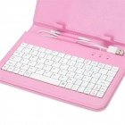 "80-Key USB Wired Keyboard w/ Protective PU Leather Case for 7"" Tablet"