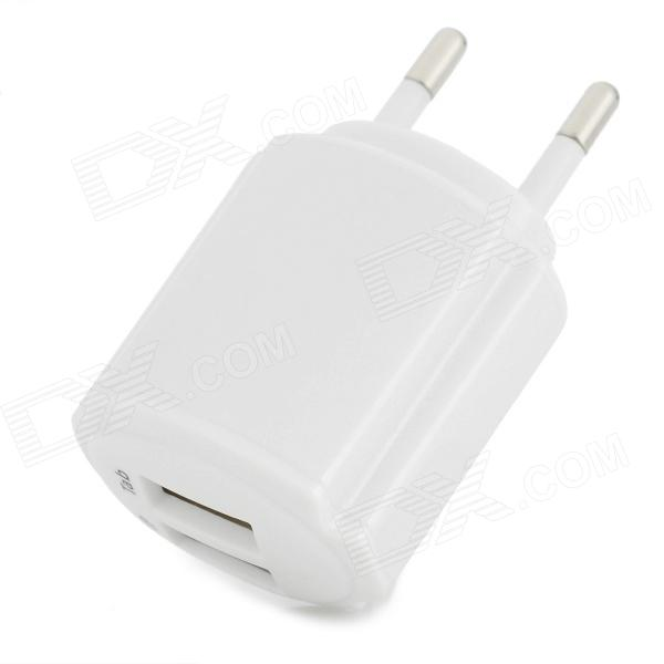 Convenient Universal Dual USB Output EU Plug Power Adapter for Iphone / Ipad / Ipod + More - White