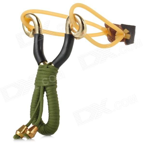Buy Stainless Steel Outdoor Slingshot Set - Green + Golden + Black with Litecoins with Free Shipping on Gipsybee.com