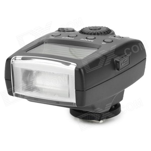 MEIKE MK-300 6W 300lm 5600K 1.8 LCD 3-Mode Speedlight Flash for Canon 100D / 650D + More - BlackLighting and Flash<br>ModelMKForm  ColorBlackMaterialABSQuantity1Compatible ModelsCanonTypeLEDGN32Color Temperature5600Recycle time:PowerSupply2LED Quantity1Battery TypeAA,OthersCertificationCEOther Features1.8Packing List1 x Flash1 x Chinese / English user manual1 x Protective case<br>