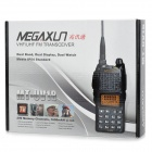 "MEGAXUN MT-UV-18 7W 1.4"" LCD 200-CH Dual Band Dual Display Walkie-Talkie w/ VOX / Radio - Black"