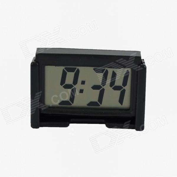 4.6*4.2cm LCD Car 4-Digital Clock - Black (1*AG10)