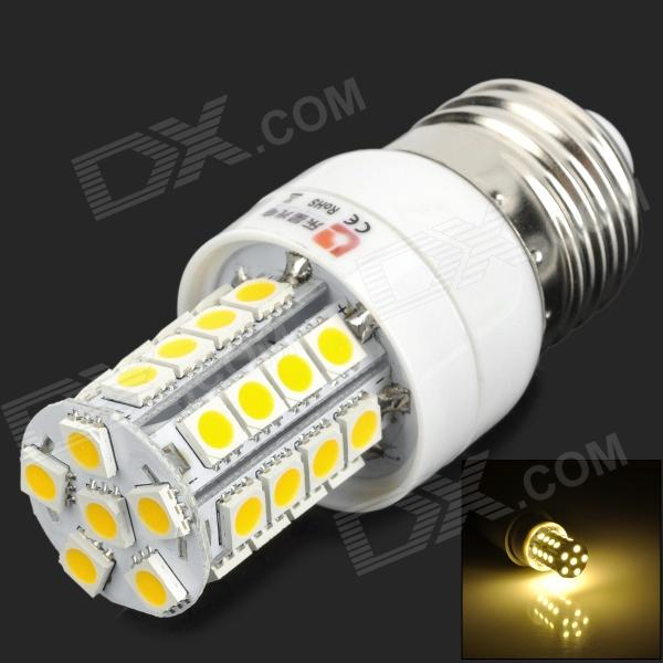 LeXing LX-YMD-013 E27 350lm 3500K 34-SMD 5050 LED Warm White Light Bulb - White + Yellow