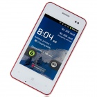 "MP 620 Android 2.3.5 GSM Bar Phone w/ 3.5"" Capacitive Screen, FM, Quad-Band and Wi-Fi - White + Red"
