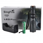 SingFire SF-110B 550lm 5-Mode Flashlight w/ CREE XM-L T6, Battery Charger - Dark Grey (1 x 18650)