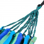 Portable Outdoor Camping Hiking Canvas Swing Hammock - Blue
