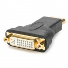 Display Port DP Male to DVI Adaptador de Conector Femenino - Negro + Oro