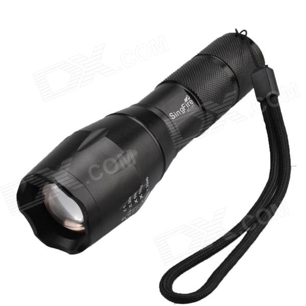 SingFire SF-721 Waterproof 5-Mode 800lm White Zooming Flashlight w/ Cree XM-L T6 - Black (1 x 18650)