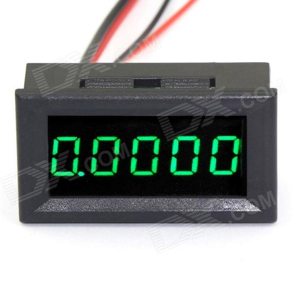 "0.36"" LED 5-Digital DC AMP Ampere / Electric Meter w/ Current Shunt - Green (0~3A)"
