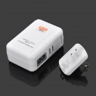 10W 5V 2A 4-USB Ports US Plugs PVC Power Charging Adapter for Iphone / Ipad + More - White