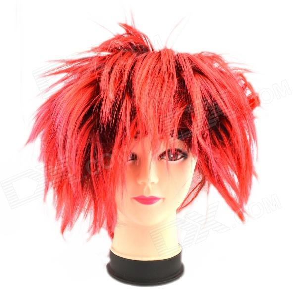 Buy Creative Hedgehog Rayon Hair Wig - Red + Black with Litecoins with Free Shipping on Gipsybee.com