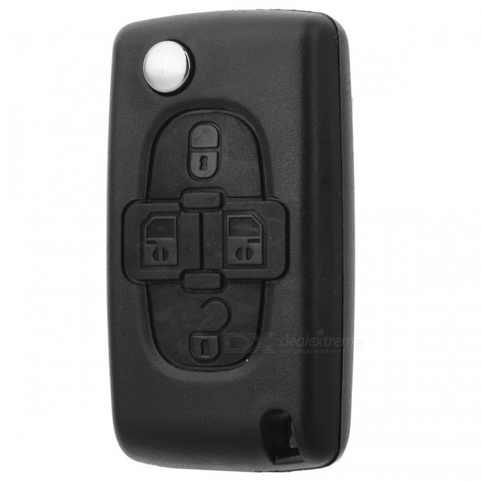 Peugeot 4-Button Folding Remote Key Shell Case for Citroen / Peugeot