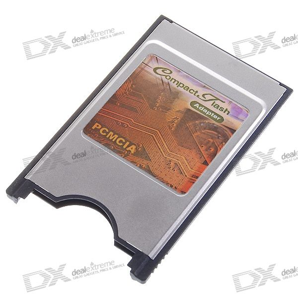 Laptop PCMCIA Compact Flash CF Card Reader Adapter - Silver + Black