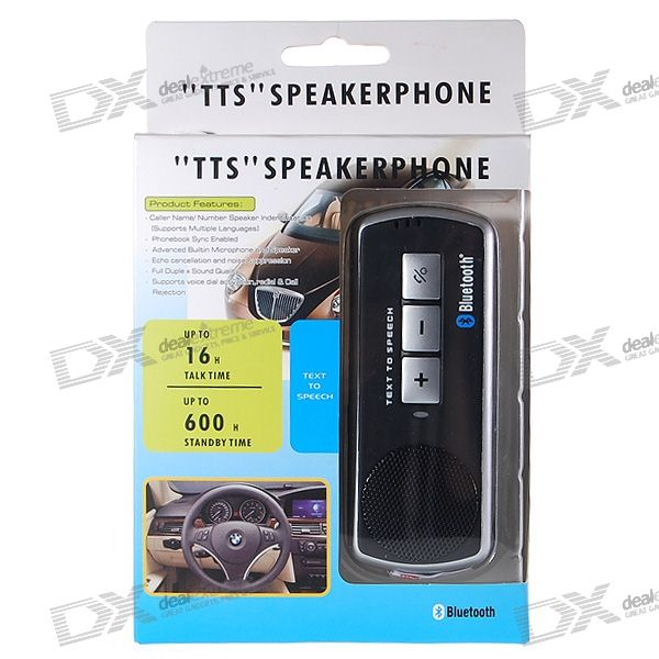 Bluetooth V2.0 + EDR Handsfree Speakerphone with TTS Caller ID (SD/MMC/USB/2.5mm)