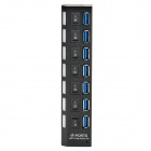 High-Speed-5Gbps-USB-30-7-Ports-Hub-w-Individual-Switches-Black