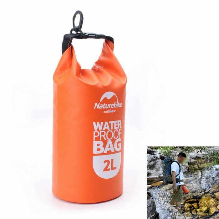 Naturehike-NH Outdoor Waterproof Bag - Orange + Black (2L)
