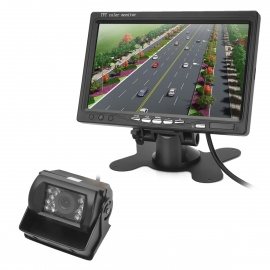 7-TFT-CMOS-Wide-Angle-Truck-Rearview-Camera-Monitor-w-Night-Vision-Black