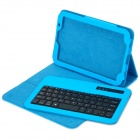 USB Wireless Bluetooth V3.0 59-Key Keyboard w/ Protective PU + ABS Case for Samsung N5100 - Blue