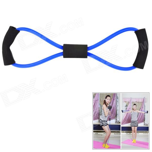 Exercise Sports Latex Pull Workout Band - Black + Blue
