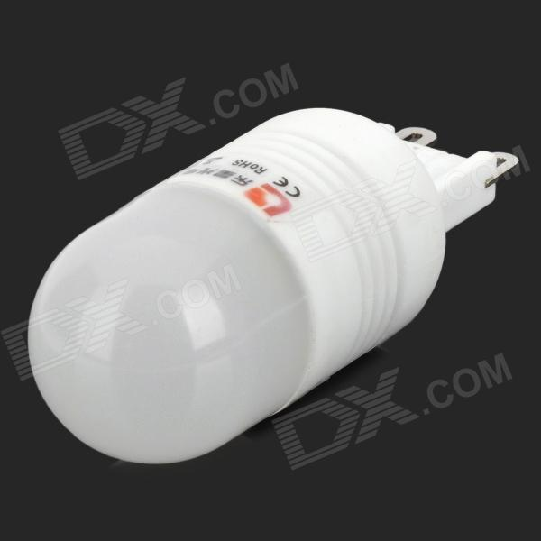 LeXing LX-YMD-019 G9 1.5W 120lm 3500K 12-SMD 2835 LED Warm White Light Bulb - White + Silver