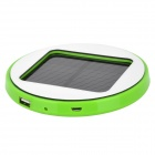 Solar Rechargeable 1800mAh Li-ion Power Bank for Cell Phone - Green