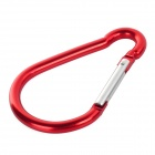 Outdoor Sports Medium Size Carabiner - Red + Silver