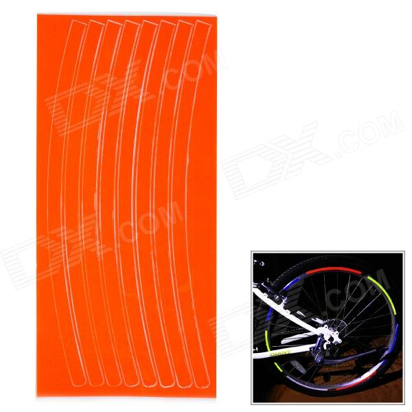 Buy NUCKILY Reflective Tyre Sticker for Bicycle - Orange with Litecoins with Free Shipping on Gipsybee.com