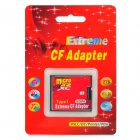 A2 TF to CF / Micro SD to CF Adapting Card - Red + Black (SDXC 64GB)