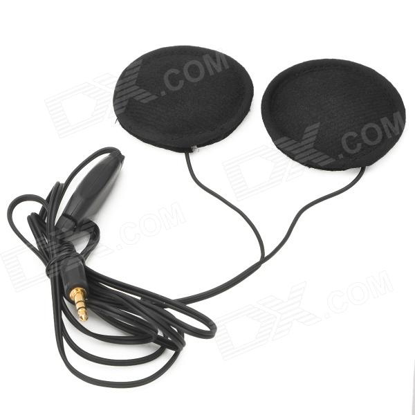 Motorcycle Helmet Headphones Headset for MP3 Player / GPS - BlackMotorcycle Interphone<br>Quantity1 DX.PCM.Model.AttributeModel.UnitForm  ColorBlackMaterialABSBluetooth VersionNoIntercom FunctionNoPower SupplyNoWaterproof FunctionNoOther FeaturesWithPacking List1 x Headphones for helmet (130cm)1 x Extension cable (95cm)<br>