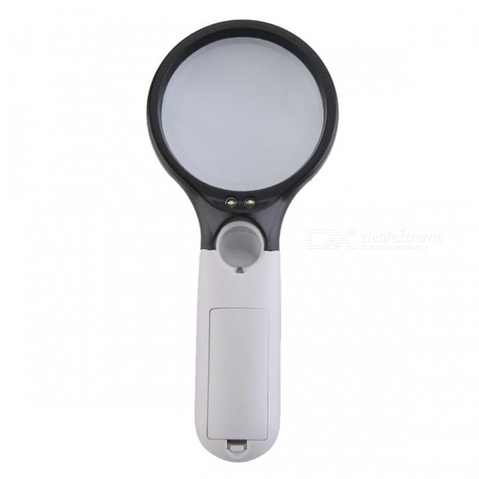 Handheld 75mm 3X / 22mm 45X Magnification MagnifierMagnifiers<br>Model6902Quantity1 DX.PCM.Model.AttributeModel.UnitForm  ColorWhiteMaterialABSMagnificationOthers,75mm 3X / 22mm 45XLens Size75mm 3X / 22mm 45XPacking List1 x Magnifier1 x English user manual<br>