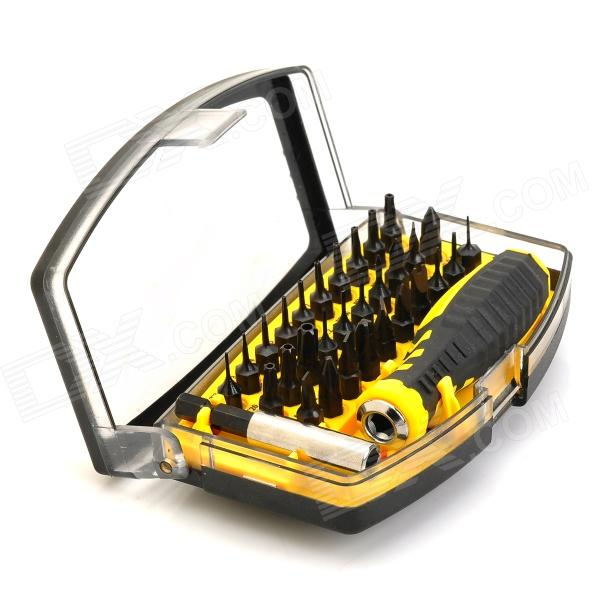 30-in-1 Multifunction Screwdriver Kit Tool Set for Iphone + Ipad + More - Black + Yellow