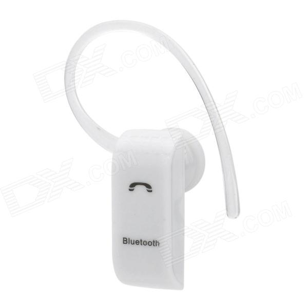 Universal Mini Bluetooth V2.1 + EDR Earbud Headset w/ Microphone for Cellphone - White