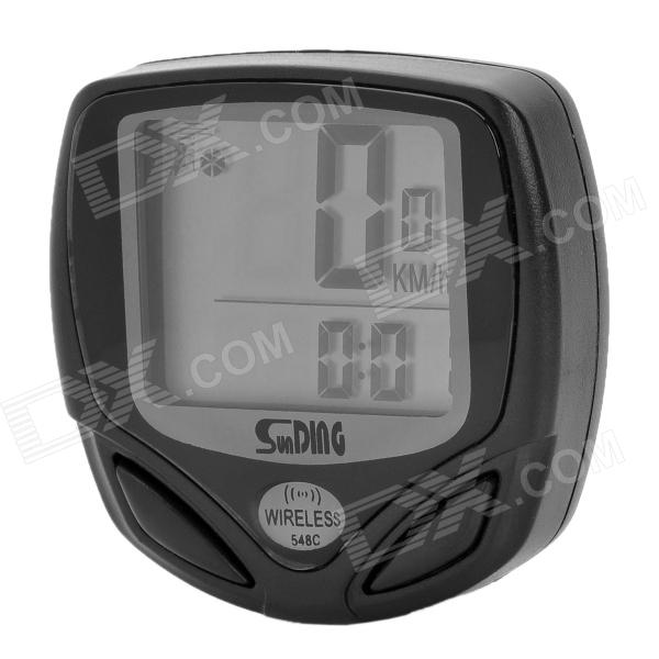 Sunding Wireless Electronic Bicycle Computer/Speedometer - Black