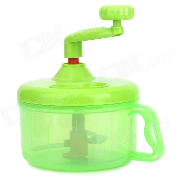 Incroyable Hand Cranked Kitchen Twisting Vegetable / Fruit / Meat Chopper Blender Tool    Green