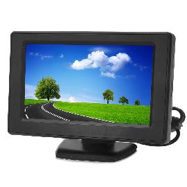 YC-43-43-LCD-Car-Rear-View-Stand-Security-Monitor-Black-(PAL-NTSC)