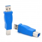 USB 3.0 A Male to Type B Male Extension Adapters - Blue + Silver (2 PCS)