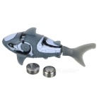 F2 Shark Style Electronic Toy Fish - gris + blanco (2 x LR44)