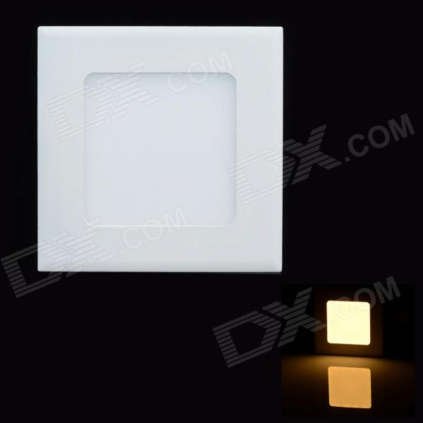 Square Panel 4W 220lm 3000K LED Warm White Light Ceiling Light w/ LED Driver - White (110~240V)