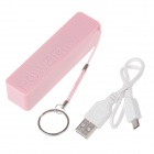 2600mAh Portable Rechargeable Mobile Power Bank for Cellphone / MP3 / MP4 / GPS - Pink